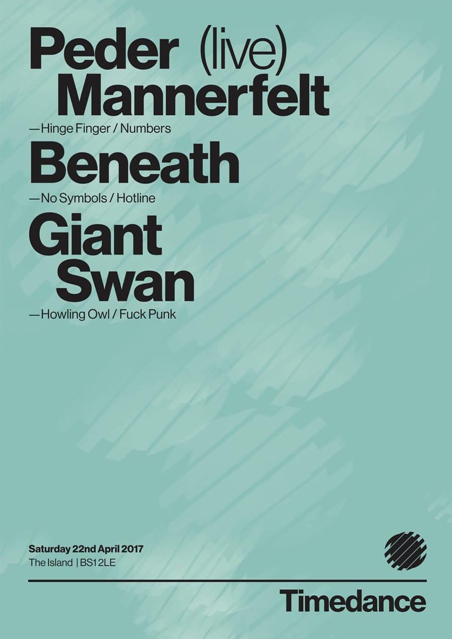 Poster: 22/04/2017 – Peder Mannerfelt (Live), Beneath, Giant Swan